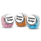 Personalized Screwtop Glass Candy Jar with 'Custom Design' Sticker