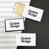 Matchboxes with 'Custom Design' Personalized Stickers (Set of 50)