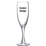 "Personalized ""Your Design and Text"" 6 ounce Champagne Flute"