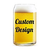 "Personalized ""Custom Design"" 16 ounce Can-Shaped Glass"