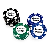 "Personalized ""Custom Design"" Casino Poker Chips (Set of 50)"