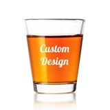 "Personalized ""Your Design and Text"" Fluted Shot Glass"
