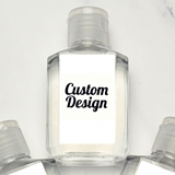 Hand Sanitizer 2oz Bottle with Personalized 'Custom Design' Sticker