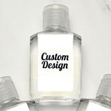 Hand Sanitizer 2oz Bottle with Personalized 'Custom Design' Sticker