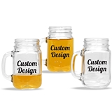 "Personalized ""Custom Design"" 16oz Mason Jar Mug with Handle"