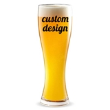 "Personalized ""Custom Design"" 16 ounce Pilsner Beer Glass"