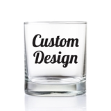 "Personalized ""Custom Design"" 9 oz. Whiskey Rocks Glass"