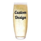 "Personalized ""Custom Design"" Stemless Champagne Flute"