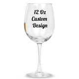"Personalized 12oz ""Your Custom Design"" Stemmed Wine Glass"