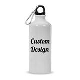 Custom Design Personalized 20oz White-Finish Aluminum Water Bottle