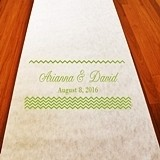 Personalized Chevron Motif Aisle Runner (19 Colors)
