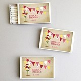 Personalized Daffodils in a Mason Jar White Matchboxes (Set of 50)