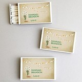 Personalized Daisy Flowers in a Mason Jar White Matchboxes (Set of 50)