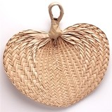 Medium-Sized Hand Fans Made of Natural Buri Palm Leaves (Set of 10)