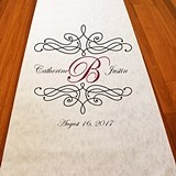 Personalized Flourish Monogram Aisle Runner (19 Colors)