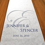 Personalized Fancy Monogram Aisle Runner (19 Colors)