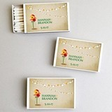 Personalized Gerbera Daisy Flowers White Matchboxes (Set of 50)