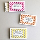 "Personalized ""Heart 2 Heart"" White Matchboxes (Set of 50)"