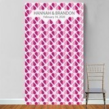 "Personalized ""Heart 2 Heart"" Motif Photo Booth Backdrop"
