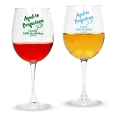 Personalized 'Aged to Perfection' Design Stemmed 12oz Wine Glasses