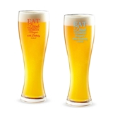 Personalized 'Eat Drink and Celebrate' Design 16oz Pilsner Beer Glass