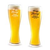 Personalized 'Sip Sip Hooray' Design 16 ounce Pilsner Beer Glass