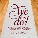 "Personalized ""We Do!"" Design Aisle Runner (19 Colors)"