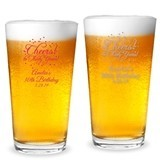 Personalized 'Cheers! to # Years' Milestone Birthday 16oz Pint Glass