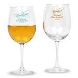 Personalized Script 'Celebrate' Design Stemmed 12oz Wine Glasses