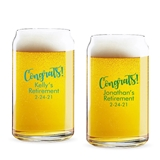 "Personalized ""Congrats!"" Design Can-Shaped Glasses"