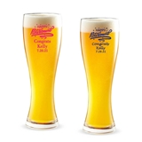 Personalized 'Happy Retirement' Design 16 ounce Pilsner Beer Glass