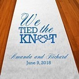 "Personalized ""We Tied the Knot"" Aisle Runner (19 Colors)"