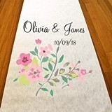 "Personalized ""Love Blooms"" Design Aisle Runner"