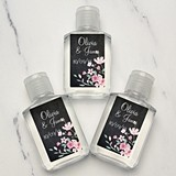 "Personalized ""Love Blooms"" Design Hand Sanitizer"