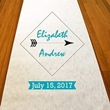 Personalized 'Love Struck' Arrow Motif Aisle Runner (19 Colors)