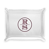 Stacked Monogram Design Personalized Acrylic Catchall Tray