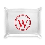 Circle Monogram Initial Personalized Acrylic Catchall Tray
