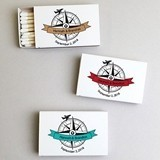 Personalized 'Our Adventure Begins' White Matchboxes (Set of 50)