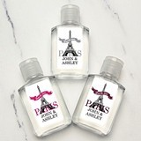Personalized Paris Eiffel Tower Motif Hand Sanitizer