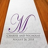 Personalized Regal Monogram Aisle Runner (19 Colors)