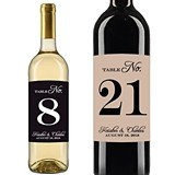 Personalized Classic Table Numbers on Wine Bottle Stickers (24 Colors)