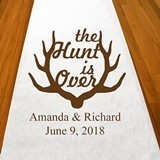"Personalized ""The Hunt is Over"" Aisle Runner (19 Colors)"