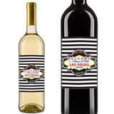 Personalized Welcome to Las Vegas Sign Wine Bottle Stickers (Set of 5)