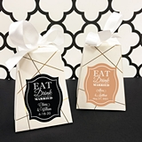 Personalized 'Eat Drink & Be Married' Pedestal Favor Boxes (Set of 12)