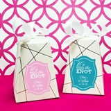 Personalized 'We Tied the Knot' Pedestal Favor Boxes (Set of 12)