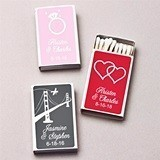 Personalized Wedding Icon White Matchboxes (61 Designs) (Set of 50)