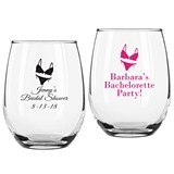 Personalized Lingerie Design 9 ounce Stemless Wine Glasses