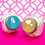 Personalized Themed Silhouette Icon Glass Candy Jars (61 Designs)