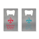 Personalized Fleur de Lis Stainless-Steel Credit Card Bottle Opener