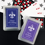 Playing Cards Deck - Personalized Fleur de Lis Design Sticker on Case